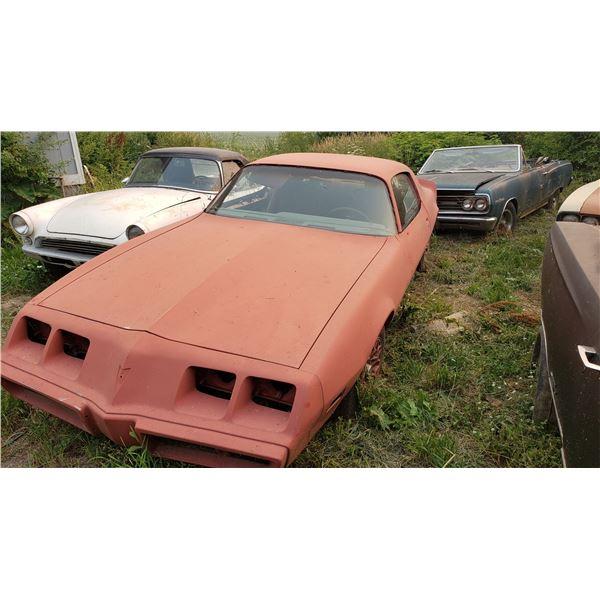 1980 Pontiac Firebird - red bird, runs