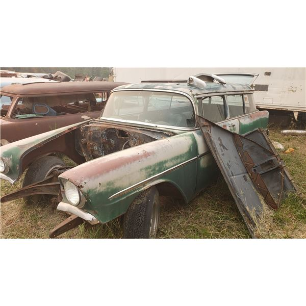 1956 Chevy Wagon - 2dr, good shell to restore