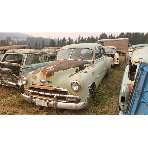 1952 Chevy 2dr Sedan - may run, totally complete, easy fixer upper