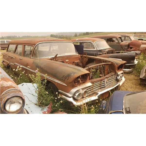 1958 Chevy Wagon - 4dr, parts or restore