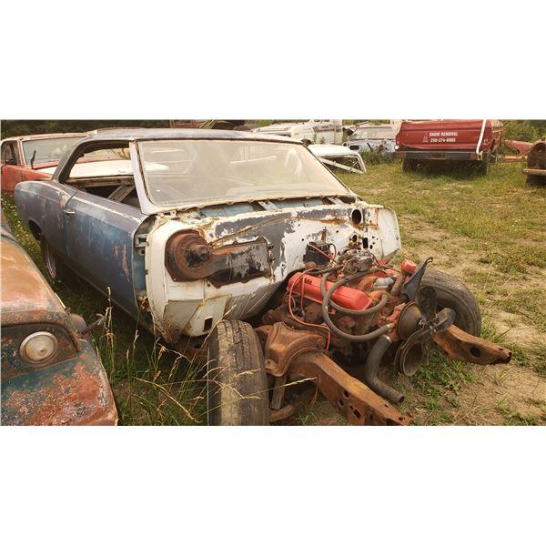 1967 Pontiac Beaumont - 2dr hardtop, no front clip, bad frame