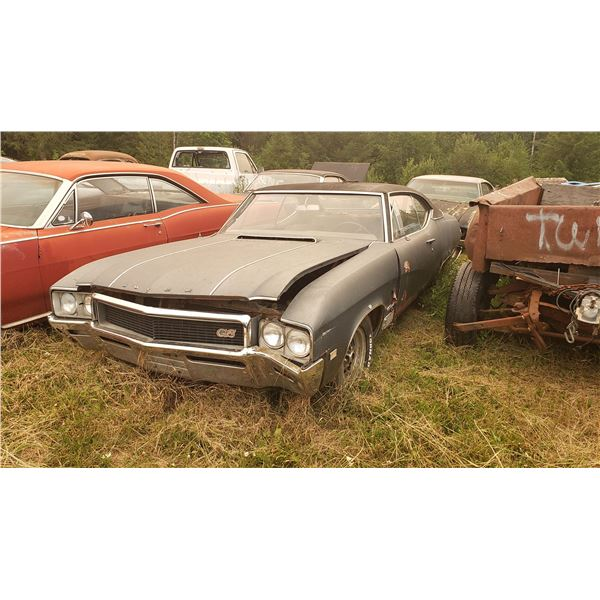 1968 Buick GS = 400 auto, buckets, console, 4 barrel, rough shape