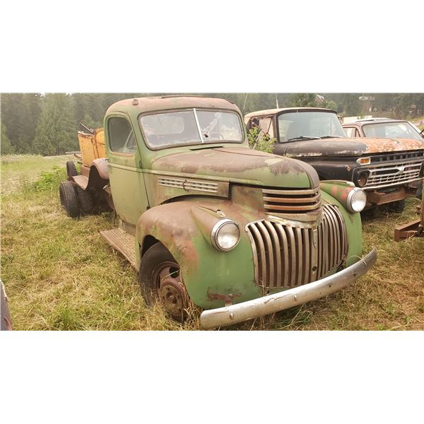 1946 Chevy 3 ton - dually, cab and chassis, good shape