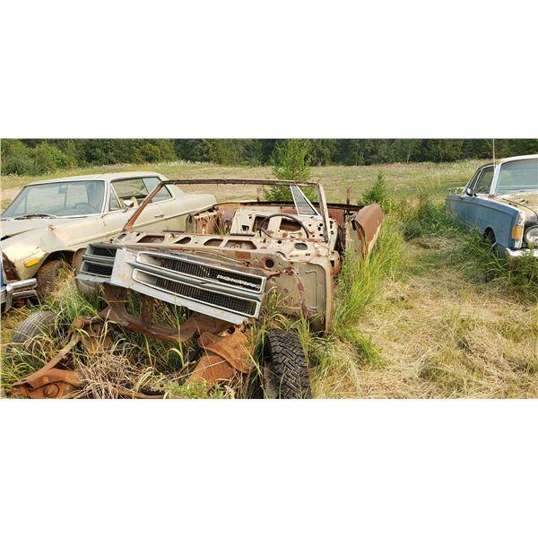 1965 Pontiac Parisienne convertible - for parts, not much left