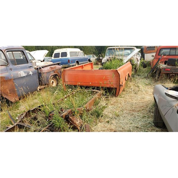 1967-72 Chevy 3/4 ton - chassis and box only, has transmission, transfer case and diffs