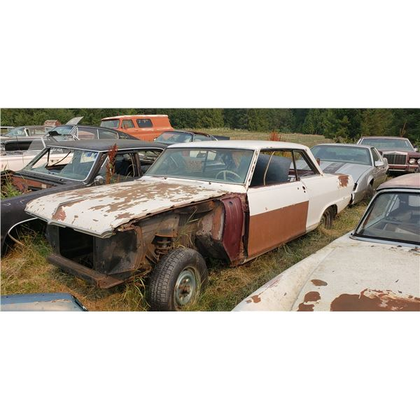 1965 Pontiac Acadian - 2dr hardtop, shell, good shape