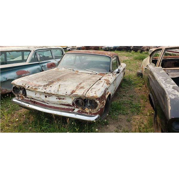 1964 Chevy Monza - factory tach and 4 speed, no engine, parts or restore