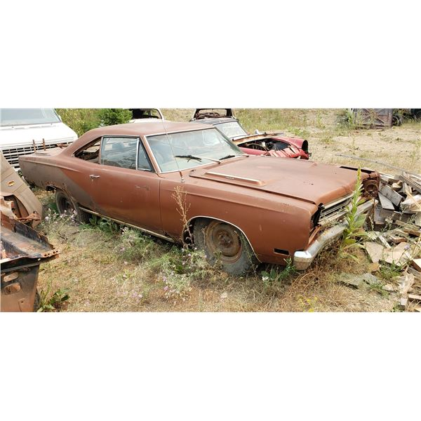 1969 Plymouth Road Runner - shell, extremely, rusty, has tags