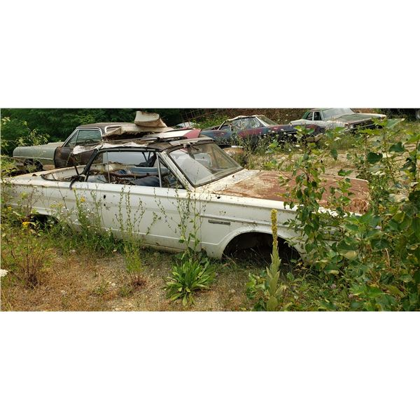 Plymouth Valiant Convertible - good for parts, rusty