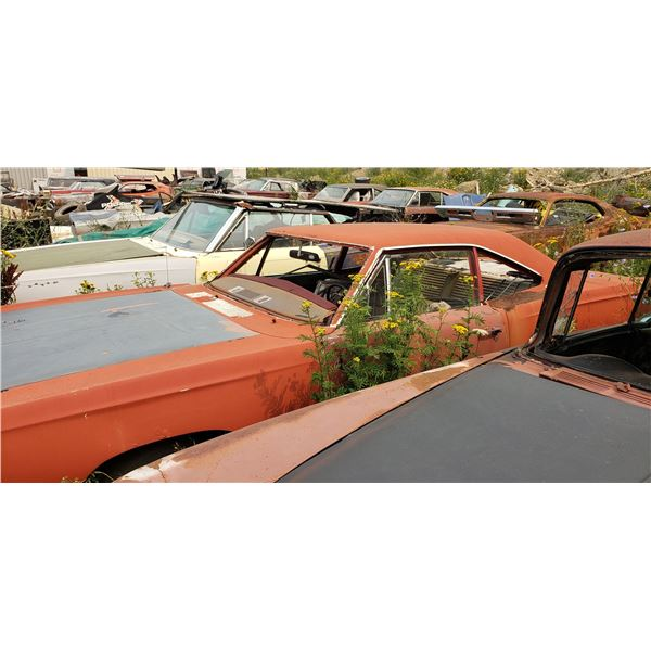 1968 Plymouth RoadRunner - was 383, 4 speed car, rough but restorable