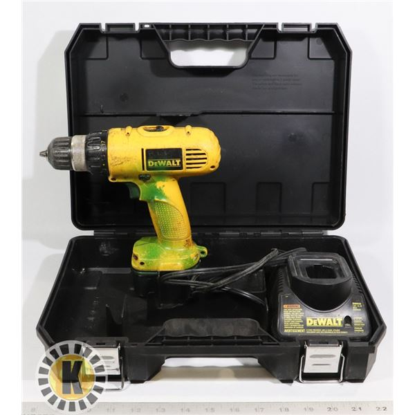 DEWALT  CORDLESS DRILL/DRIVER AND  CHARGER IN BOX