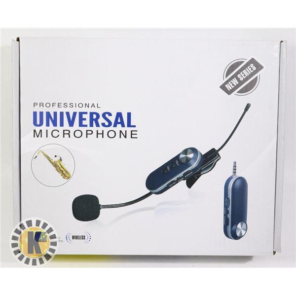 PROFESSIONAL UNIVERSAL WIRELESS MICROPHONE