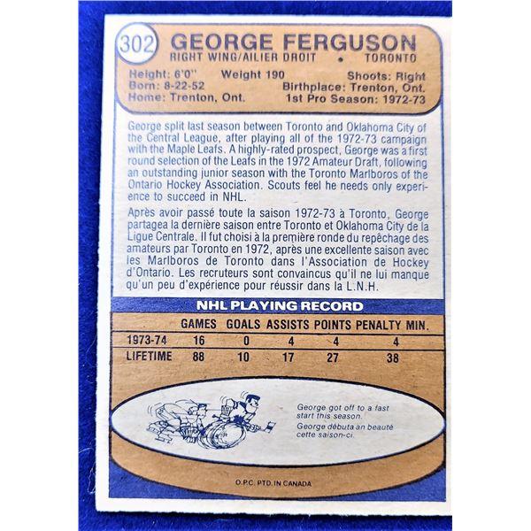 6)  VINTAGE OPG #302, GEORGE FERGUSON 1974-75