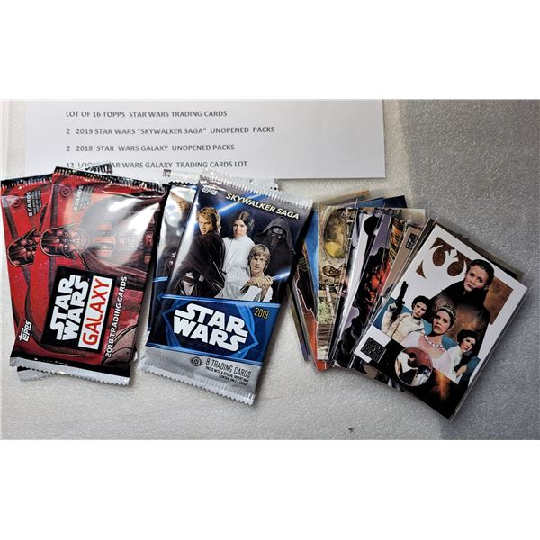 7)  LOT OF 4 FACTORY SEALED STAR WARS TRADING