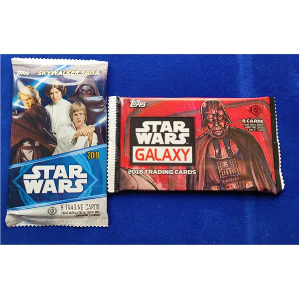 7)  LOT OF 2 SEALED STAR WARS TRADING CARDS