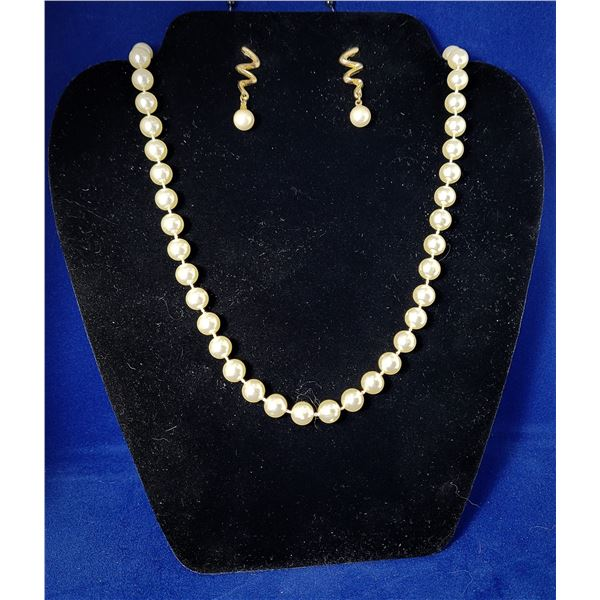 """15)  SINGLE STRAND OF 24"""" FAUX PEARLS AND"""
