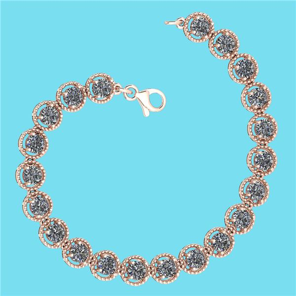 Certified 5.25 Ctw SI1/I2 Diamond Ladies Fashion 18K Ro