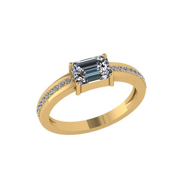 Certified 0.59 Ctw Diamond Engagement /Wedding 14K Yell