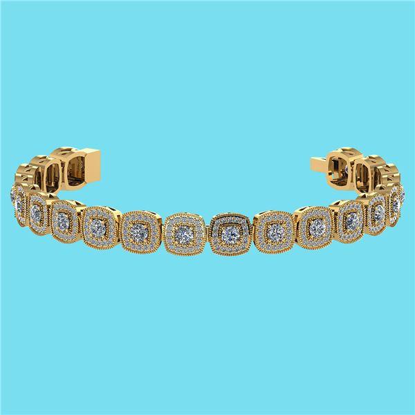 Certified 3.60 Ctw SI1/I2 Diamond 18K Yellow Gold Brace