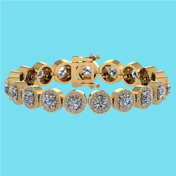Certified 6.17 Ctw SI1/I2 Diamond Ladies Fashion 18K Ye
