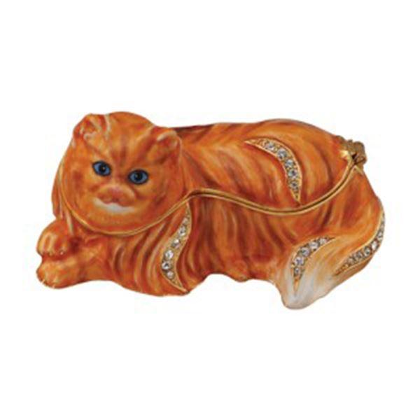 PERSIAN CAT JEWELED BOX