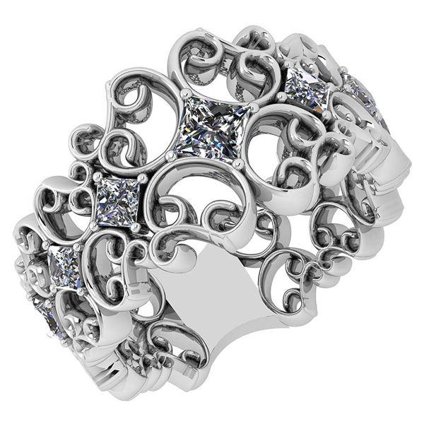 Certified 0.92 Ctw Diamond VS/SI1 14K White Gold Ring