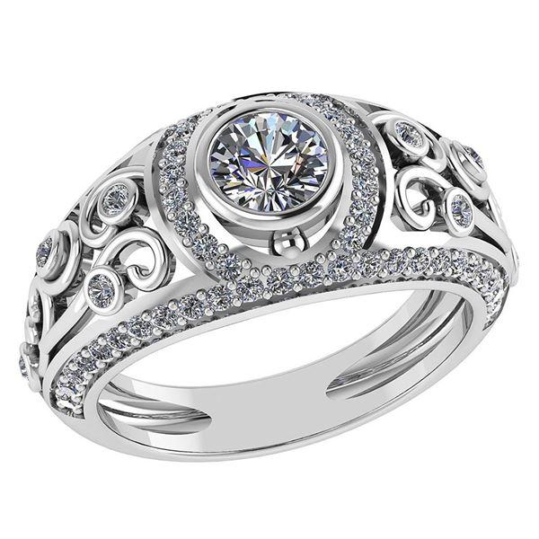 Certified 1.84 Ctw Diamond Wedding/Engagement 14K White
