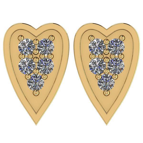Certified 0.25 Ctw Diamond I1/I2 10k Yellow Gold Earrin