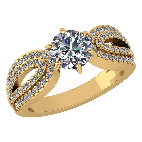 Certified 1.82 Ctw Diamond Engagement /Wedding 14K Rose