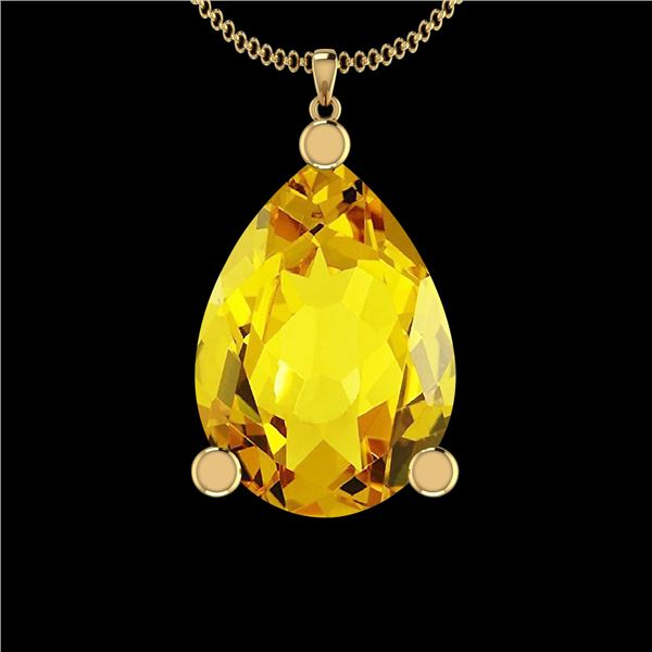 Certified 58.61 Ctw Lemon Topaz 10K Yellow Gold Victori