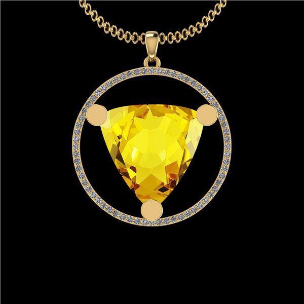 Certified 19.83 Ctw I2/I3 Lemon Topaz And Diamond 10K Y