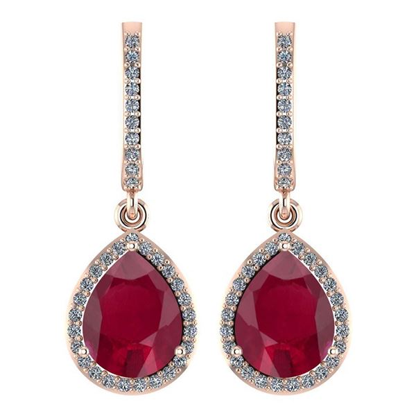 Certified 4.35 Ctw Ruby And Diamond Wedding/Engagement