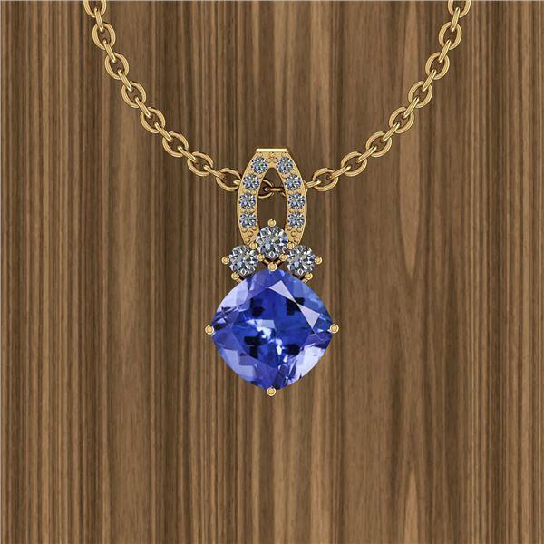 Certified 5.43 Ctw Tanzanite And Diamond VS/SI1 14K Yel