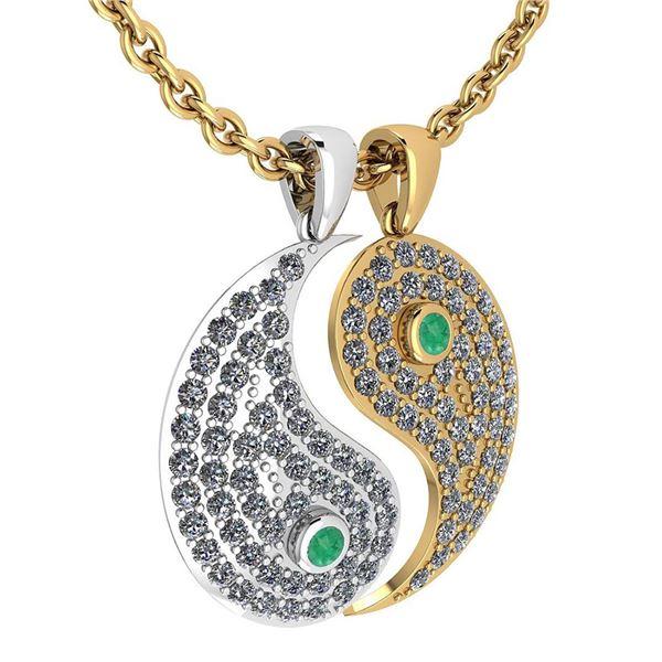 Certified 2.32 Ctw Emerald And Diamond VS/SI1 Couple Pe