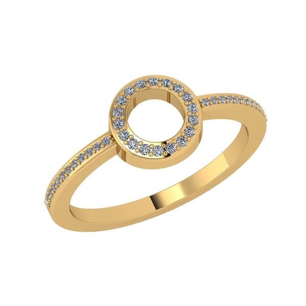 Certified 0.22 Ctw Diamond Engagement /Wedding 14K Yell