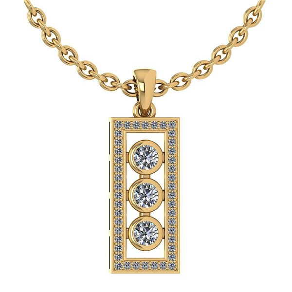 Certified 0.74 Ctw Diamond Necklace For womens New Expr