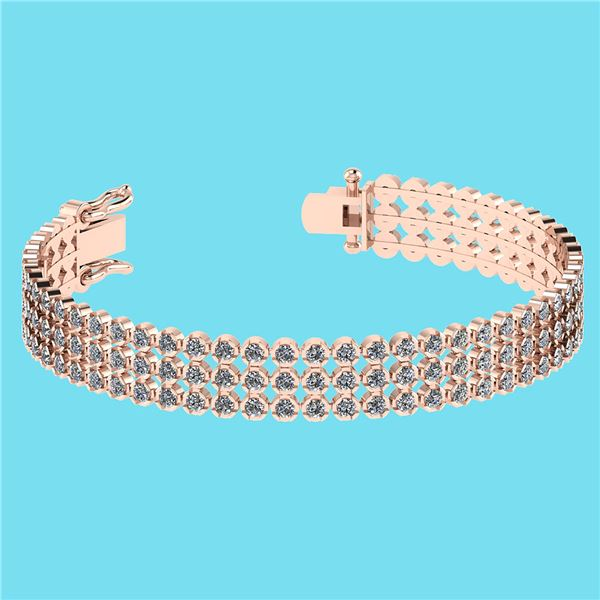 Certified 5.13 Ctw SI2/I1 Diamond 14K Rose Gold Bracele