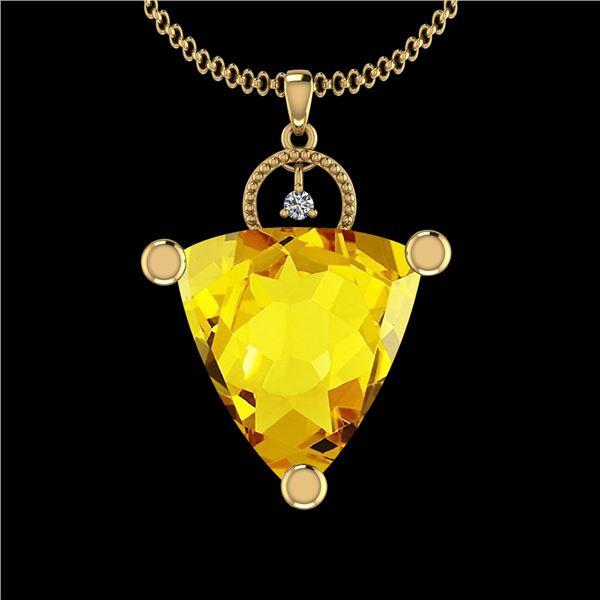 Certified 31.84 Ctw I2/I3 Lemon Topaz And Diamond 10K Y