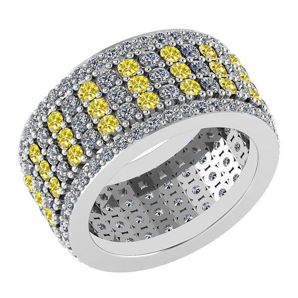 Certified 3.36 Ctw Treated Fancy Yellow Diamond 14k Yel