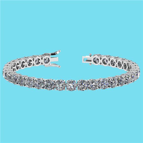 Certified 14.85 Ctw SI1/I2 Diamond Ladies Fashion 18K W