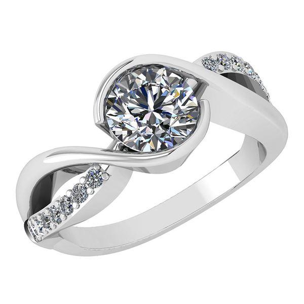 Certified 1.46 Ctw Diamond Wedding/Engagement Style 14K