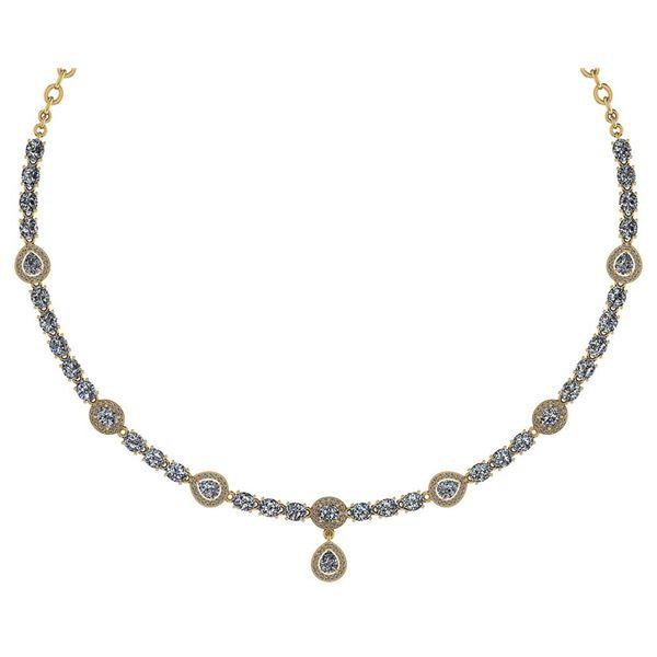 Certified 18.49 Ctw Diamond Necklace For Ladies 14K Yel