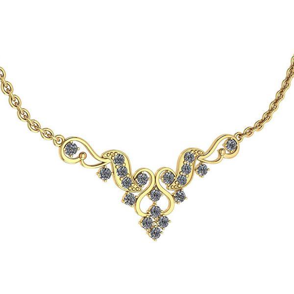 Certified 1.31 Ctw Diamond VS/SI1 Necklace 18K Yellow G