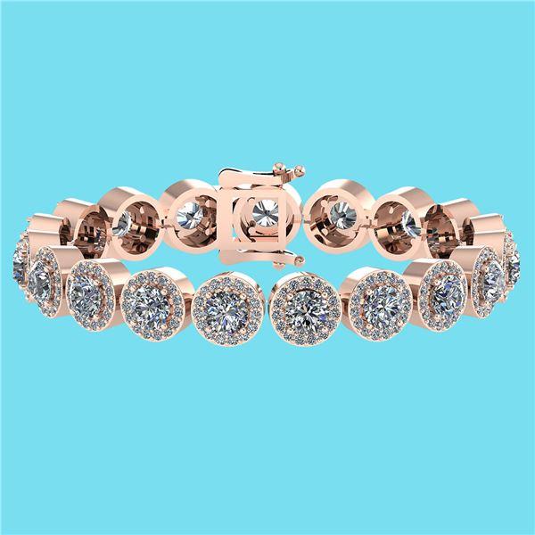 Certified 6.17 Ctw SI1/I2 Diamond Ladies Fashion 18K Ro