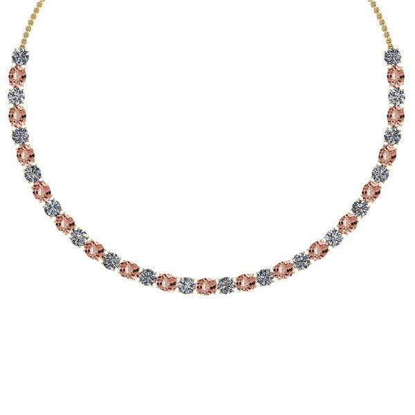 Certified 56.10 Ctw Morganite And Diamond I1/I2 Beautif