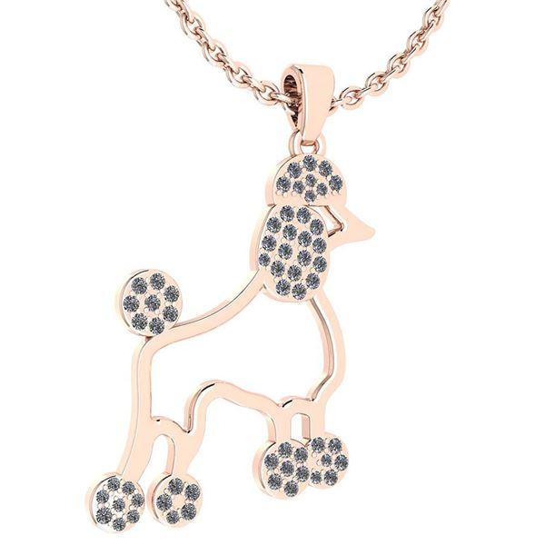 Certified 0.26 Ctw Diamond Chinese Century Year Of Dog