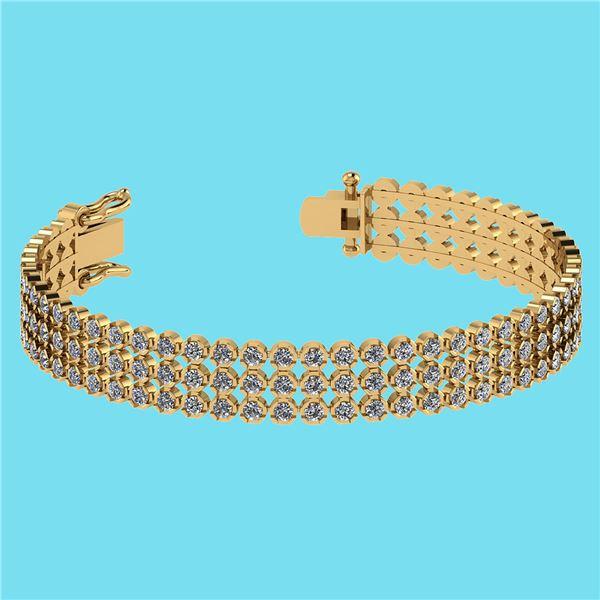 Certified 5.13 Ctw SI2/I1 Diamond 14K Yellow Gold Brace