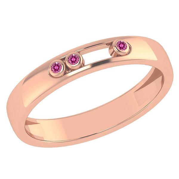 Certified 0.03Ctw Genuine Pink Tourmaline 14k Rose Gold