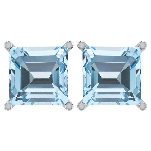Certified 11.24 Ctw Genuine Blue Topaz 14K White Gold S