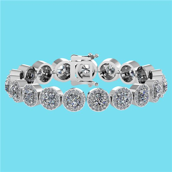 Certified 6.17 Ctw SI1/I2 Diamond Ladies Fashion 18K Wh